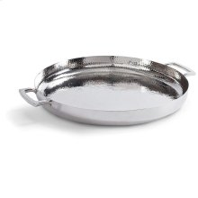 Hammered Tray In Polished Nickel