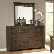 Promenade - Ten Drawer Dresser - Warm Cocoa Finish