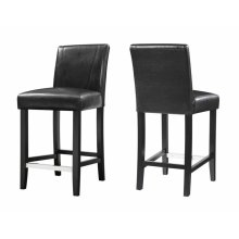 Eldridge Contemporary Brown and Black Counter-height Stool