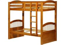 Triplet Twin/Twin Bunk Bed Honey Pine