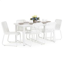 0100 Series 7PC Dining Set Textured White