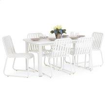 0100 Series 7PC Dining Set Textured White