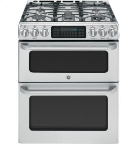 """Scratch and Dent!!  GE Café Series 30"""" Slide-In Front Control Gas Double Oven with Convection Range"""