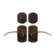 Solid Bronze Greco Lever Deadbolt Entry Set
