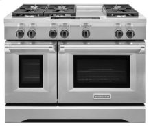 48-Inch 6-Burner with Steam-Assist Oven, Dual Fuel Freestanding Range, Commercial-Style - Stainless Steel