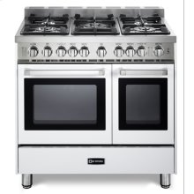 "White 36"" Gas Double Oven Range - 'N' Series"