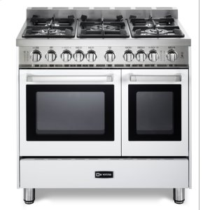 "VeronaWhite 36"" Gas Double Oven Range - 'N' Series"