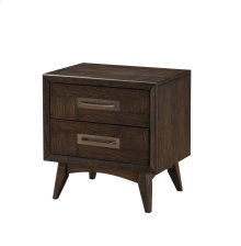 Emerald Home Millenium 2 Drawer Nightstand Weathered Oak B218-03