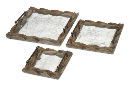 Santiago Wooden Trays - Set of 3