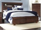 4/6-5/0 Full/ Queen Headboard - Espresso Pine Finish Product Image
