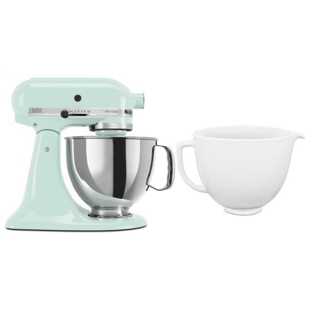 Kitchenaid Exclusive Artisan® Series Stand Mixer & Ceramic Bowl Set - Ice
