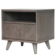 Piero Chevron Night Stand/SideTable, Weathered Gray Product Image