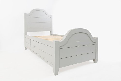 Chesapeake Dove Twin Storage Bed
