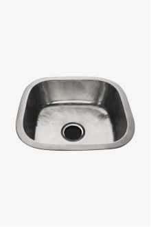 """Normandy 18 1/2"""" x 17 5/16"""" x 6 11/16"""" Hammered Copper Square Kitchen Sink with Center Drain STYLE: NOSK30"""