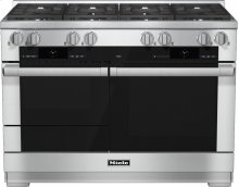 HR 1954 G 48 inch range Dual Fuel with M Touch controls, Moisture Plus and M Pro dual stacked burners