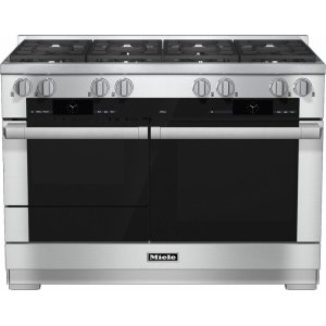 MieleHR 1954-2 G 48 inch range Dual Fuel with M Touch controls, Moisture Plus and M Pro dual stacked burners
