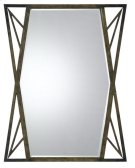 PAVIA METAL MIRROR WITH BEVELED GLASS Product Image