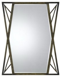 PAVIA METAL MIRROR WITH BEVELED GLASS