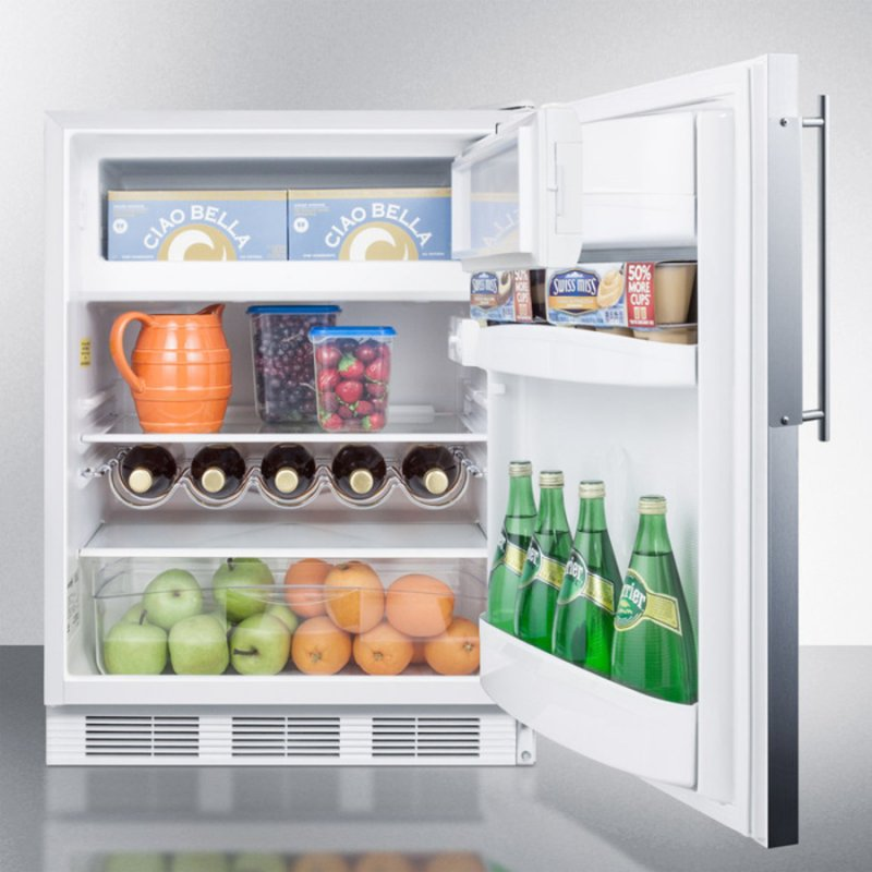 Built In Undercounter Refrigerator Freezer For Residential Use Cycle Defrost With A Deluxe