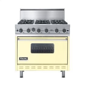 "Lemonade 36"" Open Burner Commercial Depth Range - VGRC (36"" wide, six burners)"