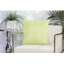 "Outdoor Pillow As524 Green 20"" X 20"" Throw Pillow"