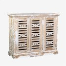 Ambon 3-Door Carved Cabinet Product Image