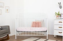 Washed White Winston 4-in-1 Convertible Crib