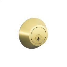 J Series One Side Keyed Deadbolt - Bright Brass