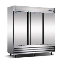 Three Door, Stainless Steel Solid Door Commercial Refrigerator