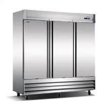 Three Door, Stainless Steel Solid Door Commercial Refrigerator