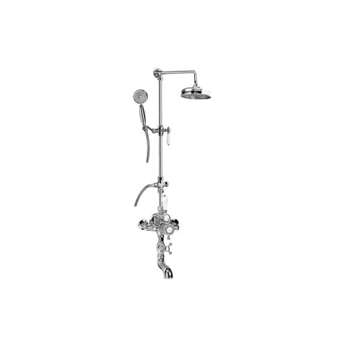 Canterbury Exposed Thermostatic Tub and Shower System - w/Metal Handshower Handle