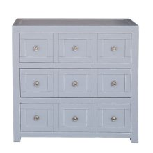 Apothecary Style Three Drawer Accent Storage Chest with Brushed Nickel Hardware