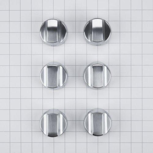 Stainless Steel Knob Kit - 4 Burner/Grill/Griddle