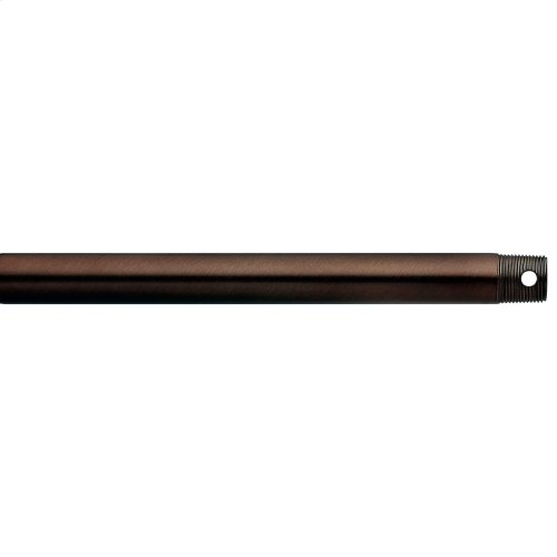 """Dual Threaded 12"""" Downrod Oil Brushed Bronze"""