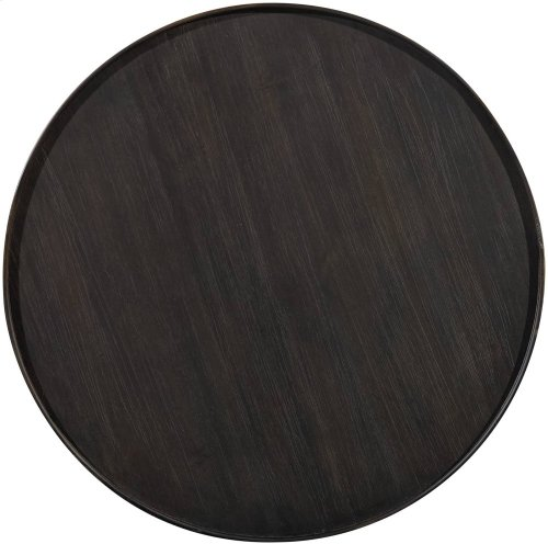 Corsica Dark Round Bedside Table