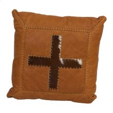 Leather Pillow W/Cross