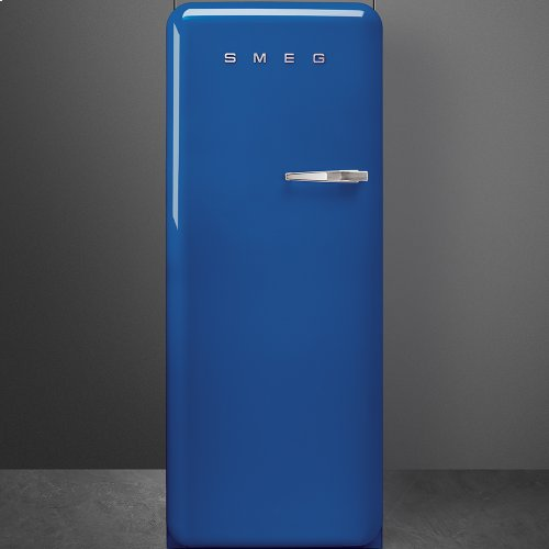 "Approx 24 "" 50'S Style Refrigerator with ice compartment, Blue, Left hand hinge"