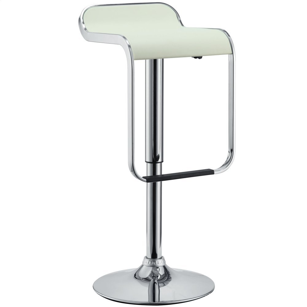 LEM Vinyl Bar Stool in White