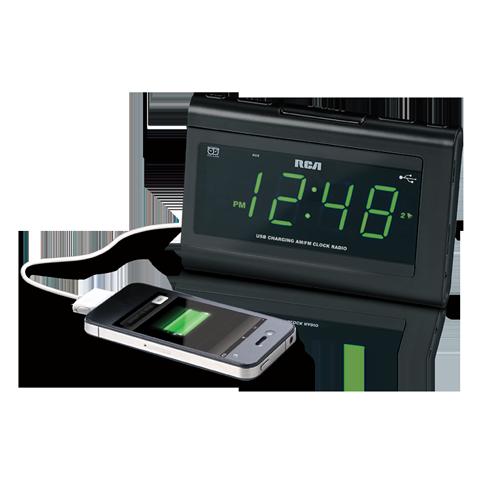 USB Charging Clock Radio with Dual Wake