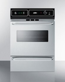 """Stainless Steel Gas Wall Oven With Electronic Ignition and Digital Clock/timer; for Cutouts 22 3/8"""" Wide By 34 1/8"""" High"""