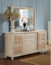 Pacifica Creme Dresser & Mirror