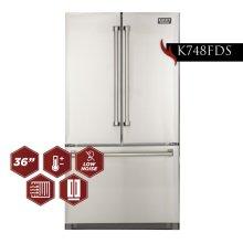 26.1 Cu. Ft. 36-Width Standard Depth French Door Refrigerator with Interior Ice Maker