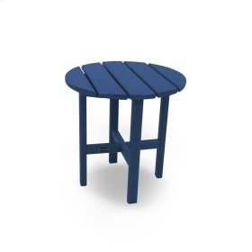 "Navy Round 18"" Side Table"