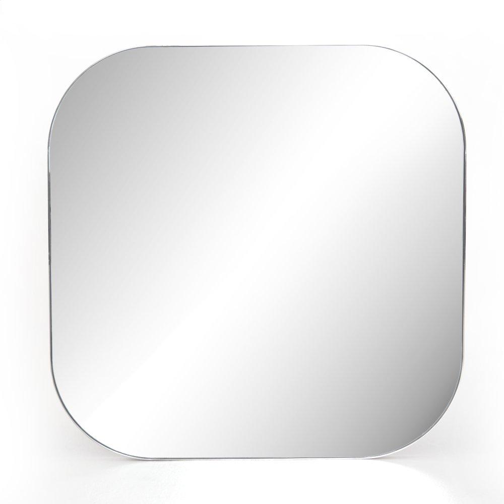 Shiny Steel Finish Bellvue Square Mirror