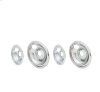 Smart Choice 6'' and 8'' Chrome Drip Bowl Set, Fits Specific