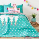 Kids Bedding set: Comforter, Pillowcase, decorative cushions and guirland Festive Llama - 54'' Product Image