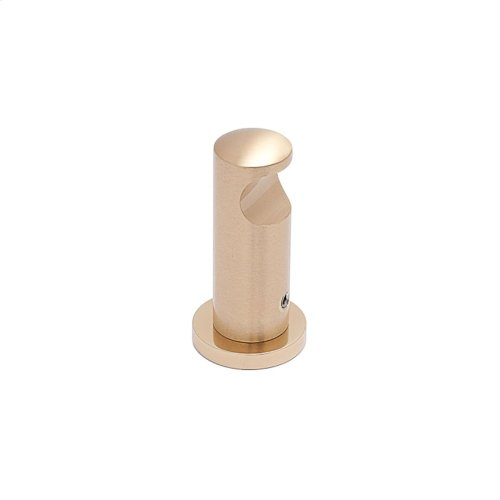 "3/4"" diameter Robe Hook - Polished Brass and Polished Brass"