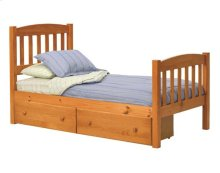 Pine Ridge Mission Bed with options: Twin