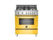 30 4-Burner, Gas Oven Yellow