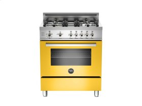 30 4-Burner, Gas Oven Yellow